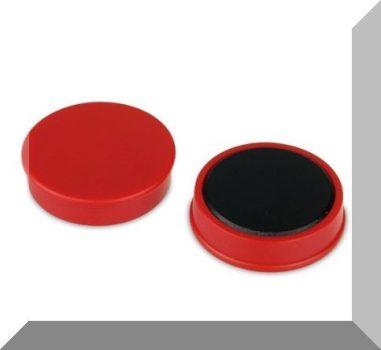 D30x8 mm. Nagy irodamágnes Ferrit betéttel - Piros
