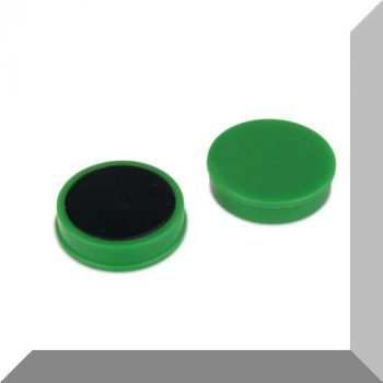D30x8 mm. Nagy irodamágnes Ferrit betéttel - Zöld
