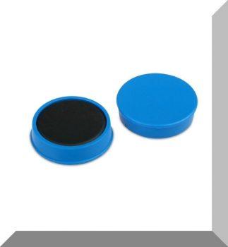 D30x8 mm. Nagy irodamágnes Ferrit betéttel - VILÁGOS Kék
