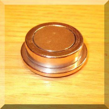 D30x9 mm.Igényes fém irodamágnes POT