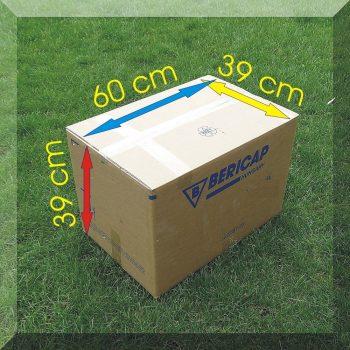Stabil karton költözéshez 60*39*39 cm. 5 rétegű masszív hullámkartonból