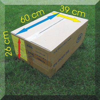 Stabil karton költözéshez 60*40*26 cm. 5 rétegű masszív hullámkartonból