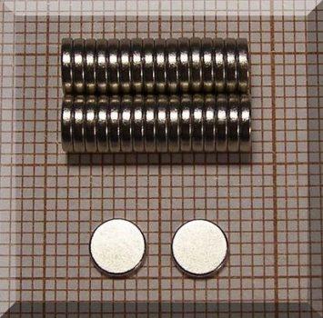 D5x1 mm. N38 NdFeB korongmágnes
