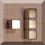 15x15x15 mm. N44 Kocka Neodym mágnes / Nikkel