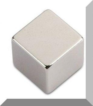 20x20x20 mm. N45 Neodym kocka mágnes