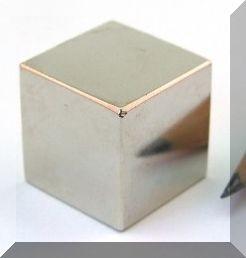 25x25x25 mm. N45 Neodym kocka mágnes