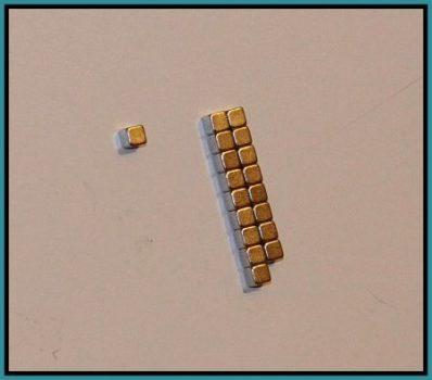 3x3x3 mm. N42 Neodymium kocka mágnes