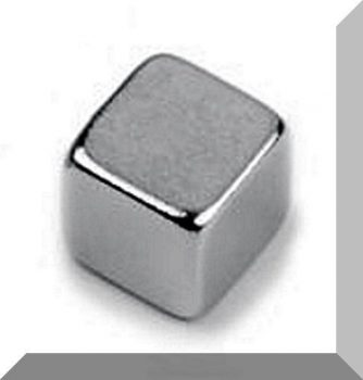 4x4x4 mm. N42 Neodymium kocka mágnes