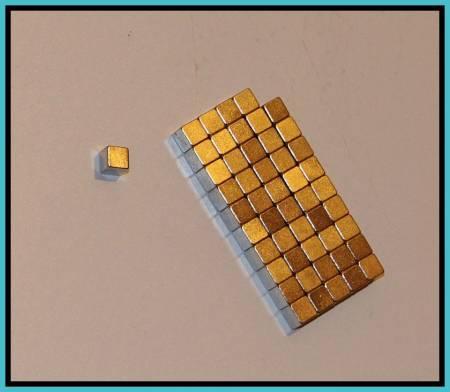 5x5x5 mm. N48 Neodymium kocka mágnes