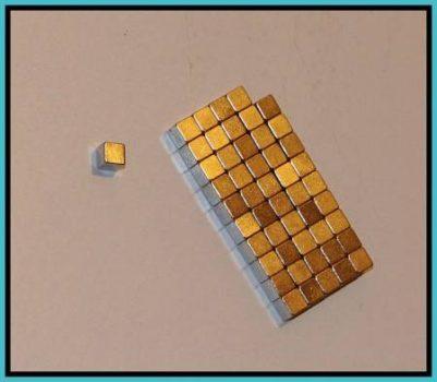 5x5x5 mm. N42 Neodymium kocka mágnes