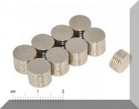 D10x1,5 mm.Neodym korong mágnes  N38