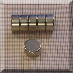 D10x5 mm. N38 NdFeB korong mágnes