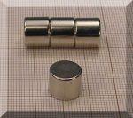 D12x10 mm. N38 NdFeB korong mágnes