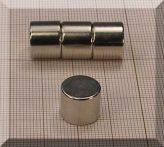 D12x10 mm. N45 NdFeB korong mágnes