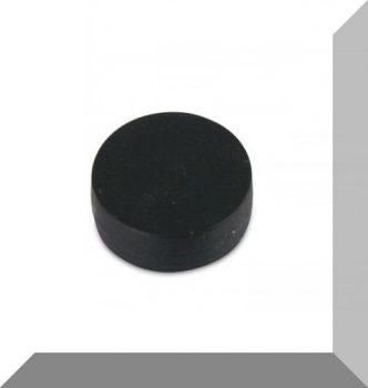 D12,7x6,3 mm. NdFeB Műanyag-bevonatos mágnes (Polipropilén) -fekete