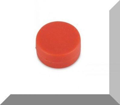 D12,7x6,3 mm. NdFeB Műanyag-bevonatos mágnes (Polipropilén) -piros