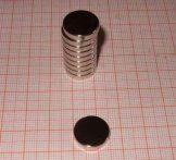D15x3 mm. Neodym korong mágnes N38