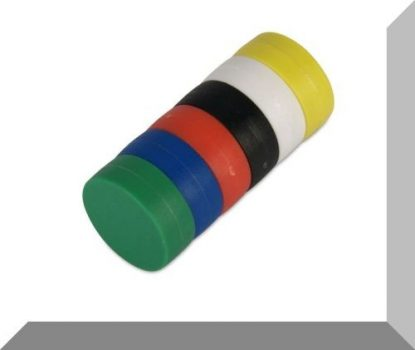 D16x6 mm. NdFeB Műanyag-bevonatos mágnes (Polipropilén) -fekete