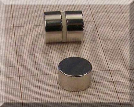 D18x10 mm. Neodym korong mágnes N38