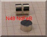 D18x10 mm. Neodym korong mágnes N48