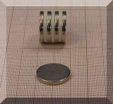 D20x2,5 mm. Neodym korong mágnes N50