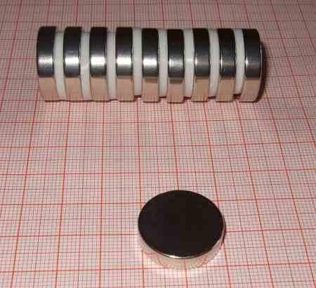 D21x5 N40 Neodym korong mágnes