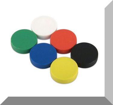 D22x6 mm. NdFeB Műanyag-bevonatos mágnes (Polipropilén) -Fehér