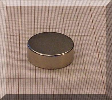 D29x10 mm. N38 neodym korong mágnes