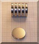 D30x5 mm. N38 Neodym korong mágnes