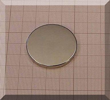 D38x3,5 mm. N38 as korong neodym mágnes