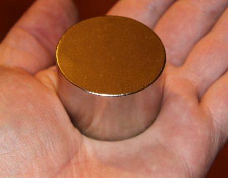 D45x30mm. N45 anyagból Neodym korong mágnes  (85 kg.)