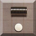 D7x1,2 mm.N38 NdFeB Neodym korong mágnes