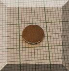 D8x0,6 mm. N50 NdFeB Neodym korong mágnes