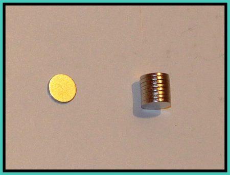 D8x1,2 mm. Neodym mágnes N42