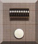 D8x1,5 mm. N50 NdFeB Neodym korong mágnes