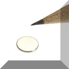D8x1 mm. N45 NdFeB Neodym korong mágnes