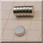 D8x2,6 mm. N38 Neodym korong mágnes