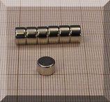D8x5 mm. Neodym korong mágnes N38