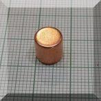 D8x8 mm. N45 NdFeB korong mágnes RÉZ bevonattal
