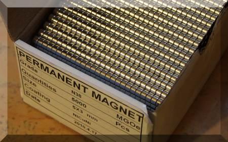 D5x3 mm. Neodym korong mágnes N38