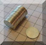 D15x1 mm. Neodym korong mágnes N38