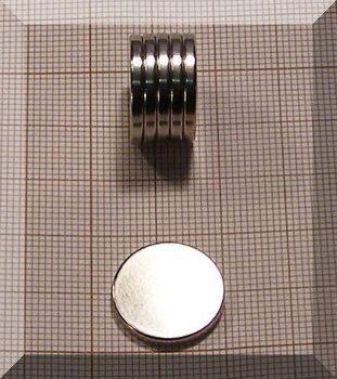 D17x2 mm. N38 NdFeB  korong mágnes