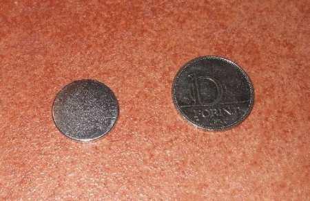 D20x2 mm. N48 NdFeB korong mágnes
