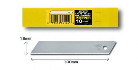 OLFA 18mm. Nem törhető penge 10db./csomag LB-SOL-10