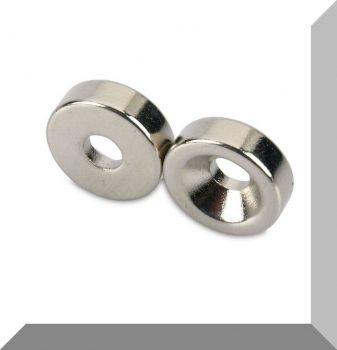D14x4,5 Süllyesztett furatos gyűrűmágnes -Diametriális mágnesezettséggel