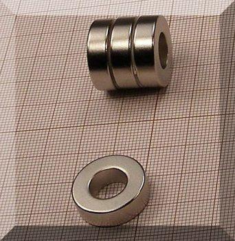 D20/d9,7x6 mm. N38 NdFeB Gyűrűmágnes