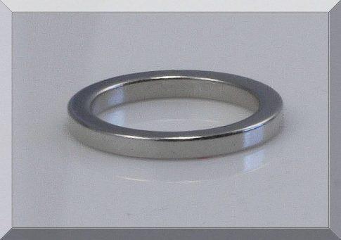 D27/d21x3 mm. N40 Gyűrű Neodym mágnes