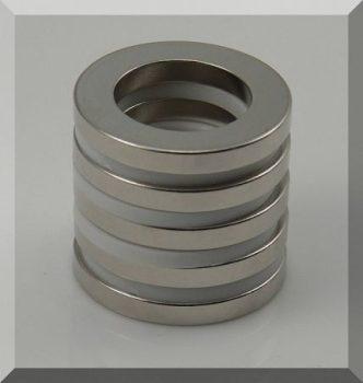 D40/d25x5 mm. N42 Gyűrű Neodym mágnes, Axiális