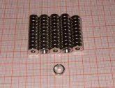 D8x3 Furat 3,5 Süly.6 mm. Neodym korong mágnes süly. furattal.