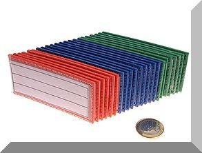 Mágneses etikett tartó kártya, neodym betéttel (Kék)